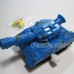 รถถังยิงกระสุนสีน้ำเงิน ของเล่นไขลาน