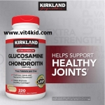 Glucosamine 1500mg+Chondroitin 1200mg 220เม็ด110วัน โปรตีนบำรุงเข่า บรรเทาอาการไขข้อเสื่อมในวัยทอง (ขายดีมาก exp.05/2021)