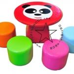 EVF-07 ชุดโต๊ะหมีแพนด้า-เก้าอี้ลูกกวาด