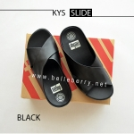 * NEW * FitFlop : KYS Slide : All Black : Size US 6 / EU 37