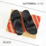 * NEW * FitFlop : GLITTERBALL Slide : Black : Size US 8 / EU 39