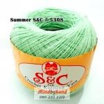 ด้ายถัก Summer S&C สีพื้น รหัส 5308