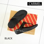 **พร้อมส่ง** FitFlop : CARMEL Toe-Post : All Black : Size US 7 / EU 38