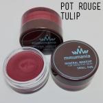Limited หมดแล้วหมดเลย MMUMANIA Pot Rouge : สี Tulip ลิปสติกเนื้อเมทัลลิกแมท สีแดงเข้มดุจไวน์