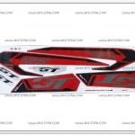 สติ๊กเกอร์ GT125 ปี 2015 รุ่น 1 ติดรถสีแดง-ดำ