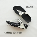 **พร้อมส่ง** FitFlop : CARMEL Toe-Post : Urban White : Size US 5 / EU 36