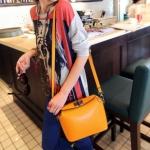 """""""พร้อมส่ง""""กระเป๋าแฟชั่น Maomao กระเป๋าสะพายทรงน่ารัก -สีส้ม"""