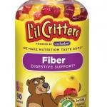 L'il Critters FIBER 90ชิ้น ใยอาหารจากผัก ช่วยระบบย่อยอาหาร+ขับถ่าย(ไม่ท้องผูก อึนิ่ม สบายตัวทุกวัน) -หมด-