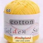 ไหมพรม Cotton 100% รหัสสี 02 Light Yellow