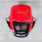 หน้ากาก TENA-NEW สีแดงส้ม/ดำด้าน