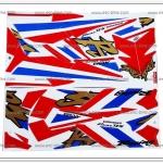 สติ๊กเกอร์ DASH-RS ปี 97 ลายธงชาติ