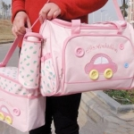 กระเป๋าสัมภาระคุณแม่ เซต 3 ใบ ยี่ห้อ MotherCare ลายรถ