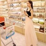 """""""พร้อมส่ง""""เสื้อผ้าแฟชั่นสไตล์เกาหลีราคาถูก Brand God is girl เดรสยาว สายเดี่ยว ตัวเสื้อเป็นผ้าคอตตอนสีดำ กระโปรงผ้าชีฟองเนื้อดีสีชมพูมีซับใน เอวจั๊ม(สีจริงเข้มกว่าในรูปนะคะ)"""