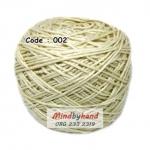 ไหมเบบี้ซิลค์ (ฺBaby Silk) รหัสสี 002 สีครีมเหลือง