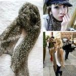 ผ้าพันคอแฟชั่นสไตล์เกาหลี ลายเสือ CK0285