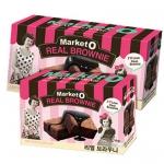 Pre Order / Market O Real Brownie ขนมบราวนี่ ของฝากยอดฮิตจากเกาหลีค่ะ ขนาด : 160G (8ชิ้น) X 12 กล่อง