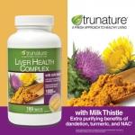 truNature-LIVER HEALTH 180เม็ด(Milk thistle250mg+สมุนไพร) บำรุงฟื้นฟูเซลล์ตับ, ลดไขมันตับ, ลดเอ็นไซม์ในตับ (หมด.ไม่มีผลิตแล้ว) แนะนำ Premium-milk thistle