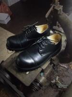 รองเท้าผู้ชาย | รองเท้าแฟชั่นชาย Black Safety Shoes Oiled Pull Up Leather