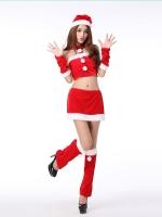 พร้อมส่งชุดซานตี้เกิร์ลสีแดงเซ็กซี่