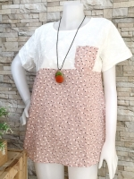 ส่ง:เสื้อผ้าป่านแต่งลายดอกแบบน่ารักแต่งเป๋าอก/อก37