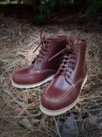รองเท้าผู้ชาย | รองเท้าแฟชั่นชาย Cherry Boots หนัง Oiled Pull Up