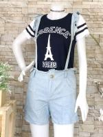 ส่ง:เช็ท2ชิ้นแบบน่ารัก/เสื้อ+กางเกงลายเอี๊ยม(สายถอดได้)งานจีน