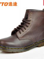 รองเท้าผู้ชาย | รองเท้าแฟชั่นชาย รองเท้าบูทหนัง ทรง Dr.Martens แบรนด์ ZTTO แฟชั่นเกาหลี