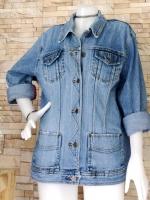 ขายส่ง:เสื้อคลุมแจ็คเก็ตยีนส์แท้แบบเก๋ๆสวยๆ/อก45