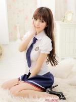 ชุดนอนซีทรูคอสเพลย์นักเรียนสาวสวยญี่ปุ่นยูนิฟอร์มนักเรียนพร้อมส่ง