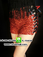 ชุดแดนเซอร์กางเกงเอวสูงสีแดง(พร้อมส่ง)