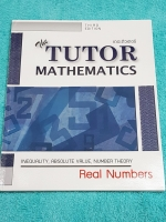 ►The Tutor◄ หนังสือเรียนคณิตศาสตร์ ระบบจำนวนจริง มีสรุปสูตรสั้นๆ โจทย์เยอะมาก มีข้อควรรู้ก่อนลงมือทำโจทย์ ด้านหลังมีเฉลย หนังสือใหม่เอี่ยม