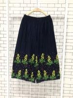 ส่ง:กางเกงพรีทเชิงปลายดอกสดใสผ้าเนื้อดีทิ้งตัว/เอวยืด26-48