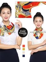 ผ้าพันคอสำเร็จรูป ผ้ายูนิฟอร์ม uniform ผ้าไหมซาติน : L120