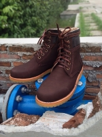 รองเท้าผู้ชาย | รองเท้าแฟชั่นชาย Brown Boots หนังนูบัคแท้ กันน้ำ