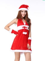 พร้อมส่งชุดเซ็กซี่ซานตี้ใส่คริสต์มาส คล้องคอ น่ารักแอ๊บแบ๊ว