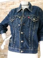 ขายส่ง:เสื้อคลุมแจ็คเก็ตยีนส์แท้แบบเก๋ๆสวยๆ/อก36
