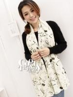 ผ้าพันคอแฟชั่นลายลิปสติค Lipstick : วนิลา - ผ้าพันคอ Silk Chiffon - size 170*70 cm