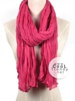 ผ้าพันคอแฟชั่น Cotton Candy : สี Rose Pink