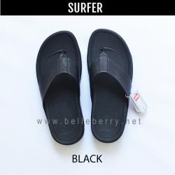 * NEW * FitFlop Men's : SURFER : Black : Size US 9 / EU 42