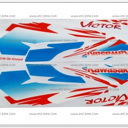 สติ๊กเกอร์ VICTOR ปี 95 ติดรถได้ทุกสี