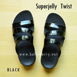 รองเท้า FitFlop SUPERJELLY TWIST : Black : Size US 9 / EU 41