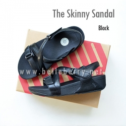 * NEW * FitFlop The Skinny Sandal : Black : Size US 7 / EU 38