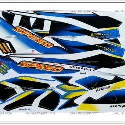 สติ๊กเกอร์ SPEED ปี 2002 ติดรถสีน้ำเงิน