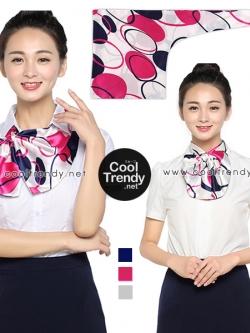 ผ้าพันคอสำเร็จรูป ผ้ายูนิฟอร์ม uniform ผ้าไหมซาติน : L70