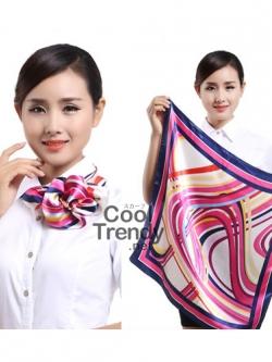 ผ้าพันคอจัตุรัส ผ้าพันคอ uniform รหัส S23 - size 60 x 60 cm