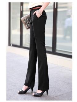 กางเกงทำงานขายาว ใส่ทำงานออฟฟิศ สีดำ