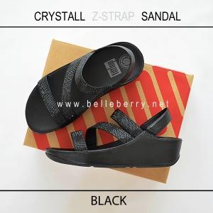 * NEW * FitFlop CRYSTALL Z-STRAP Sandal : Black : Size US 7 / EU 38