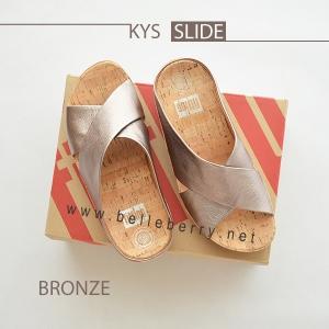 * NEW * FitFlop : KYS Slide : Bronze : Size US 9 / EU 41