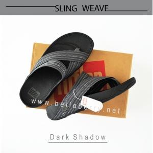 * NEW * FitFlop : SLING WEAVE : Dark Shadow : Size US 09 / EU 42