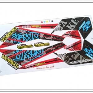 สติ๊กเกอร์ MSX-TAKEGAWA ติดรถสีแดง